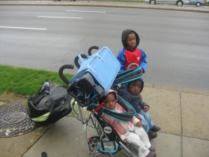Tianna's children when homeless
